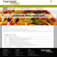 Tvorba webových stránek pro Honestfood.cz
