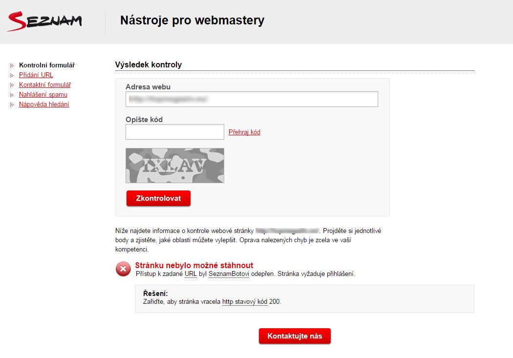 Seznam přestal web indexovat. Co s tím?