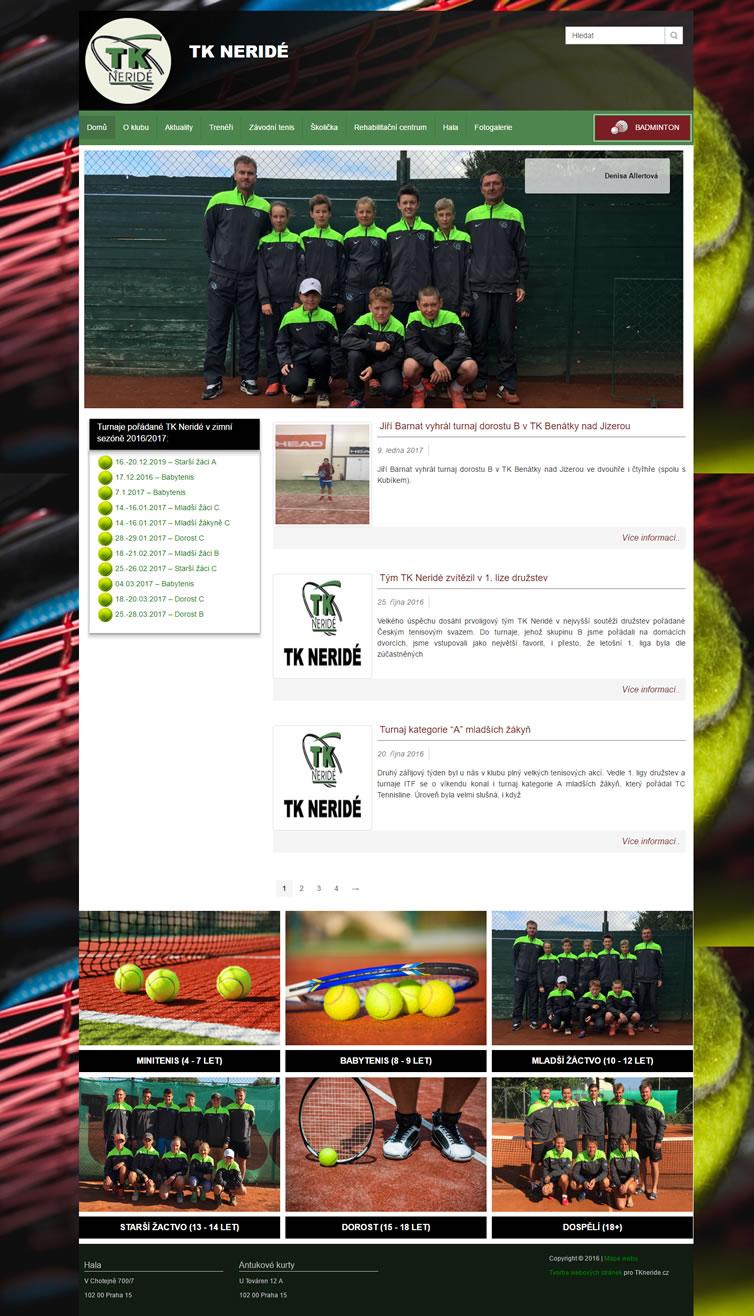 TKNeride tenisový klub Neridé