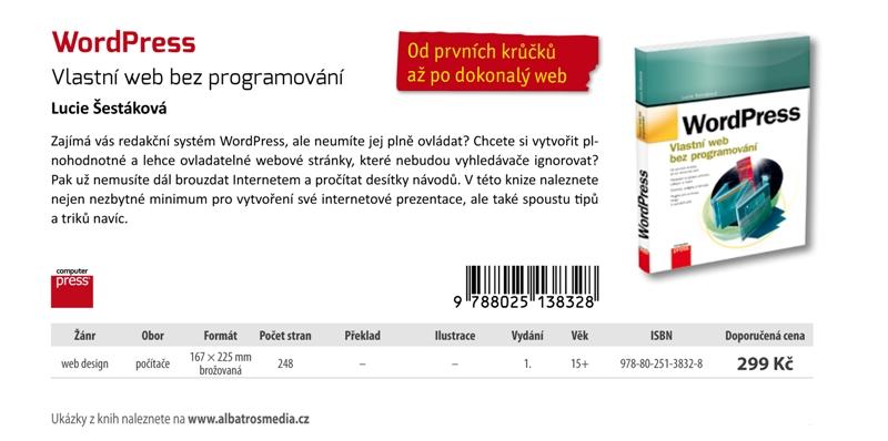 Nová kniha o redakčním systému WordPress
