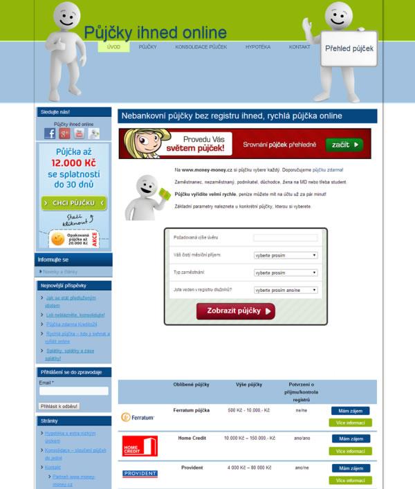Web pro affiliates program? Žádný problém