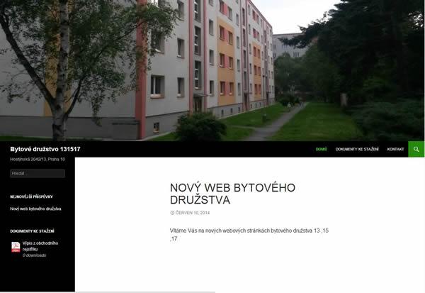 Webové stránky pro bytová družstva