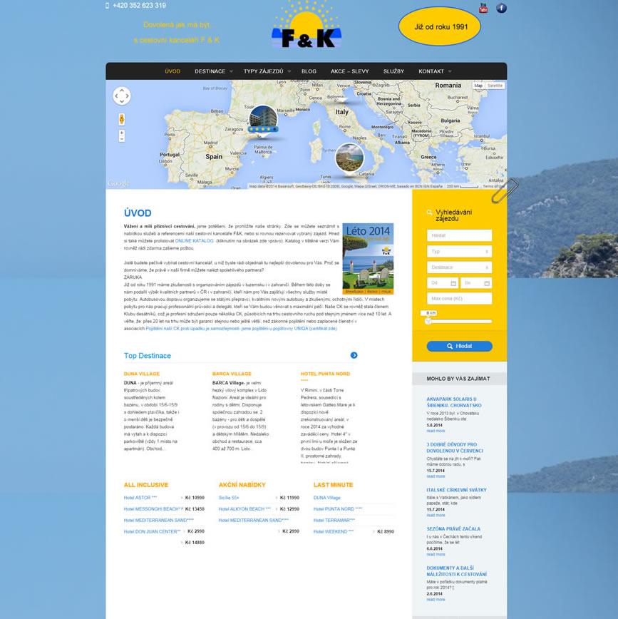 Tvorba webu pro cestovní kanceláře