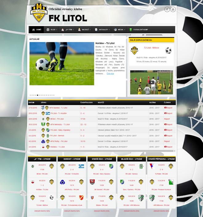 Tvorba webových stránek pro fotbalové kluby není pro WordPress problém