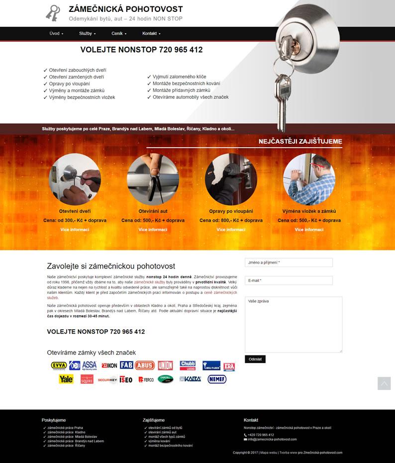 Tvorba www pro Zamecnicka-pohotovost.com