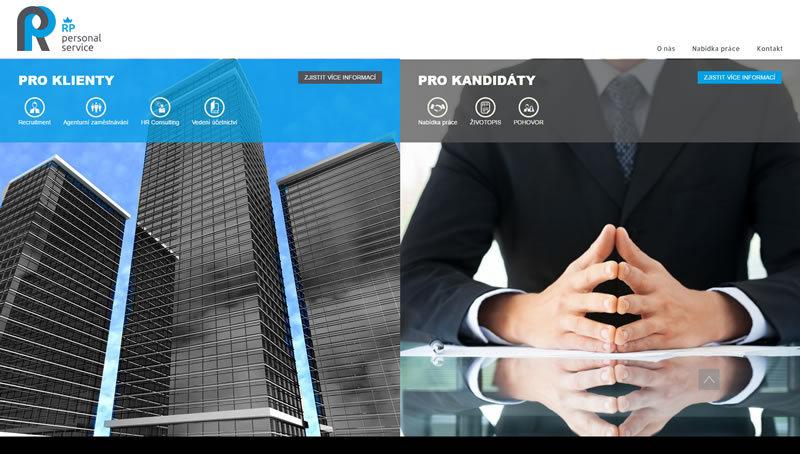 Tvorba webu pro Regnumpersonal.cz